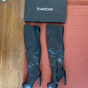 Bebe over the knee leather boots